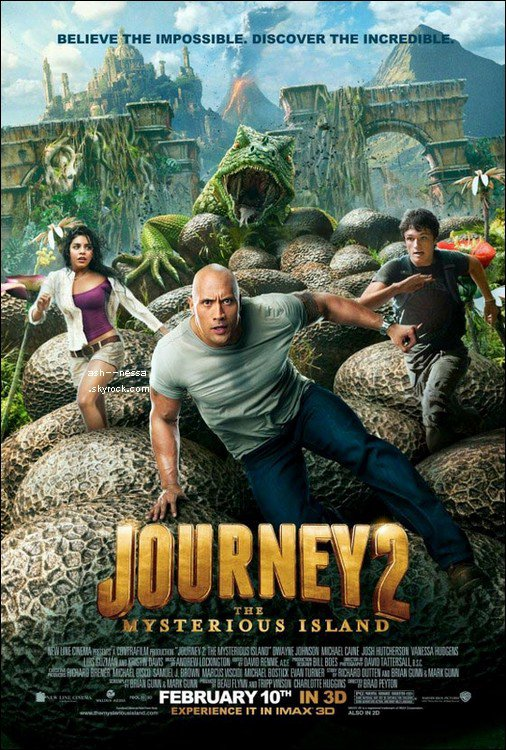 Ashley 11 novembre + Trailer Journey 2 : The Mysterious Island