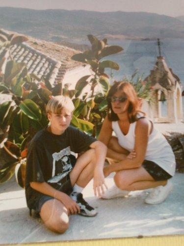 MON FILS ET MOI EN GRECE 1996