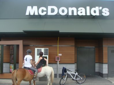 Mc Drive à poney, nous on l'a fait !