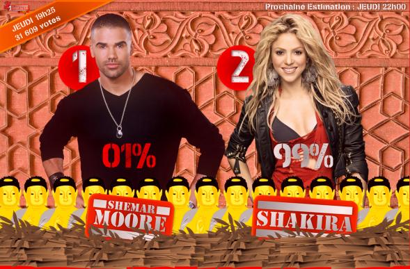 estimation 2 !!! nomination shemar vs shakira