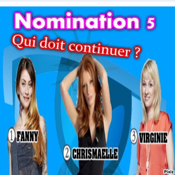 nouvelle nomination !! je suis nominer ( chrismaelle )