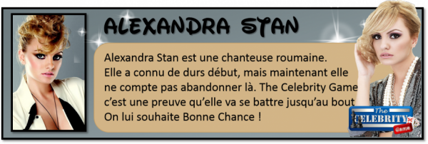 Alexandra stan sa sexy carte dans The celebrity Game ! ( kiffez l'article )