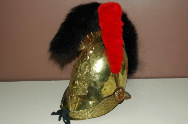 casque pompier 1821/1830 plaque au coq