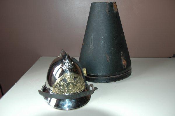 casque 1885 officier hautvillers dans sa boite d'epoque