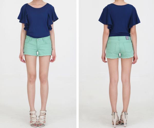 Short en jean pastel pour femme !!