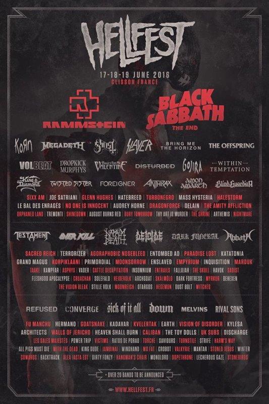 L'affiche du Hellfest 2016