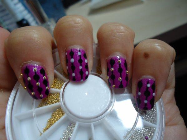 Violet + perles