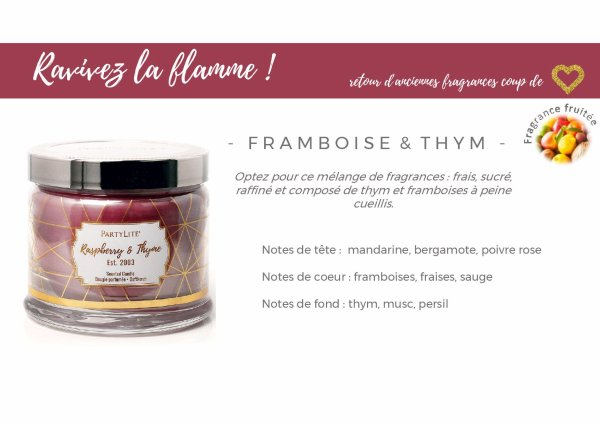 Pot 3 mèches exclusif Framboise Thym