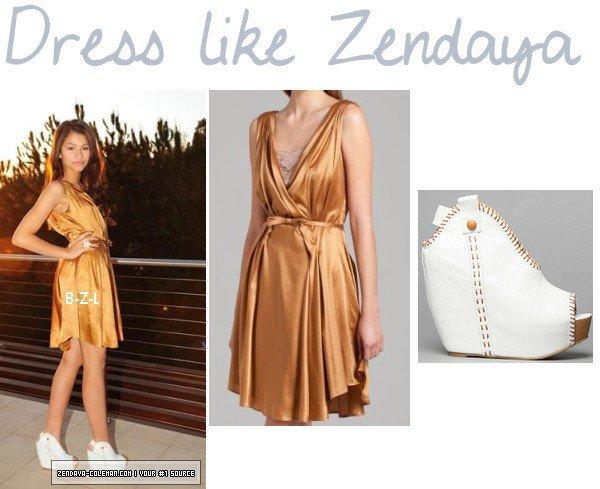 Zendaya tenue, lors dun de ses photoshoot + Zendaya coiffure lors d