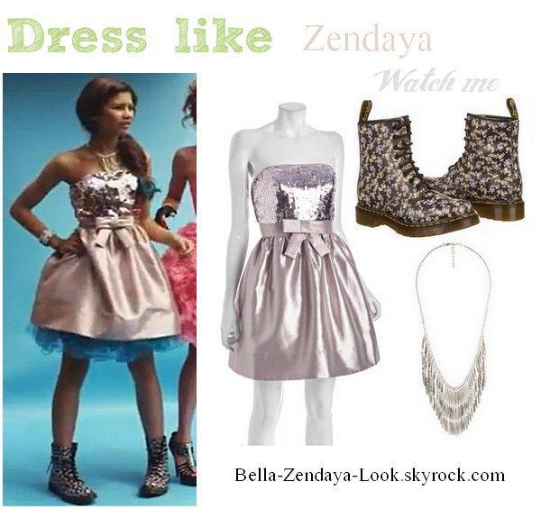 Zendaya coiffure + Zendaya Tenue