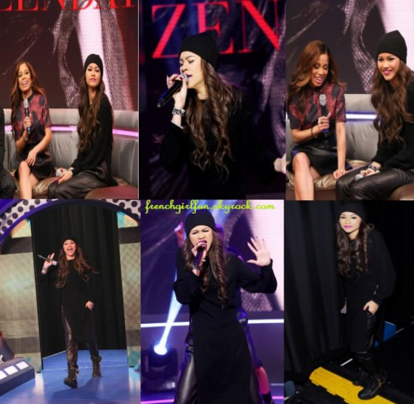 News photos de Zendaya au BET 106 & Park le 26/11/13