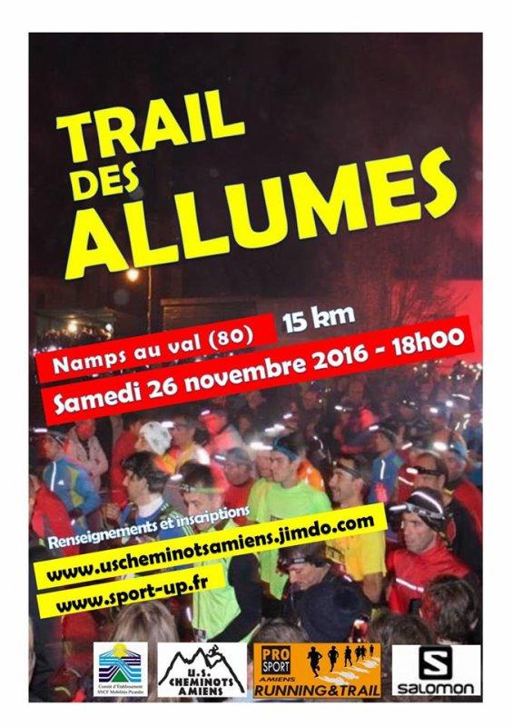 trail des allumés, Namps-au-Val , samedi 26 novembre 2016 , Somme ...