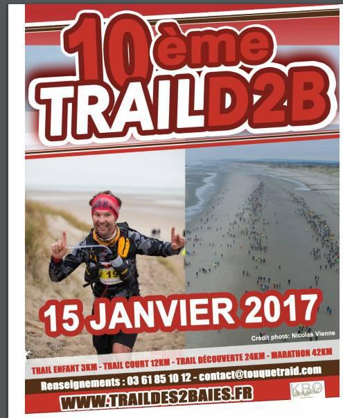 10eme édition du trail des deux baies , Le Touquet , Pas-de-Calais , dimanche 15 janvier 2017 ...