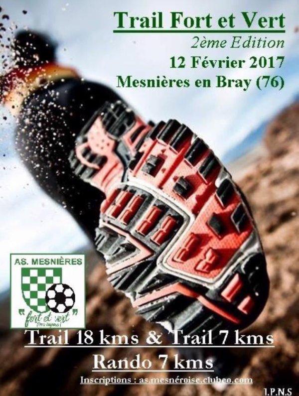 Trail Fort et Vert , Mesnières en Bray , dimanche 12 février 2017 , Seine Maritime ...