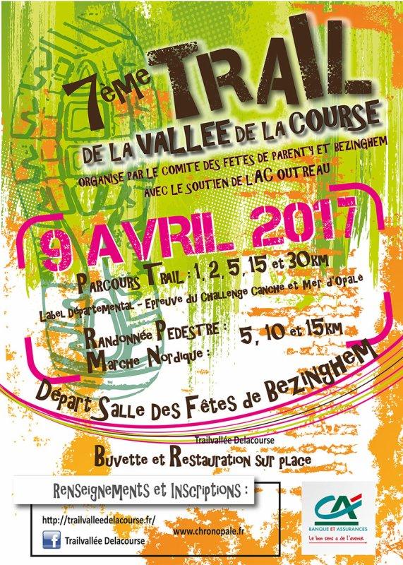 7eme trail de la vallée de la course a Parenty , Hauts de France ...