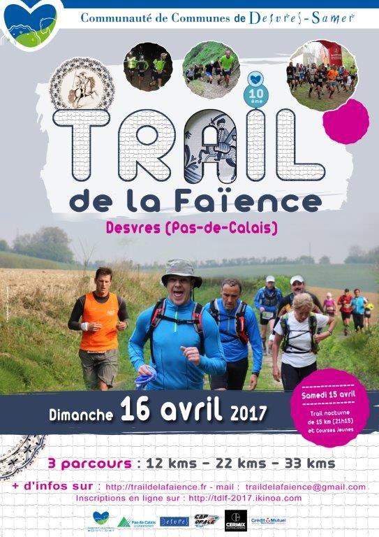 Trail de la Faïence , dimanche 16 avril 2017 , commune de Desvres , Pas-de-Calais ...