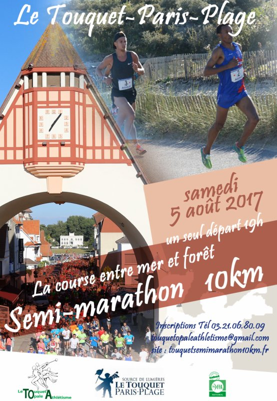 semi marathon du Touquet , samedi 5 août 2017 , Hauts de France ...
