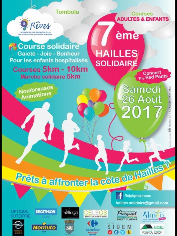 course solidaire de Hailles , Picardie des Hauts de France , samedi 25 aout 2017 ...