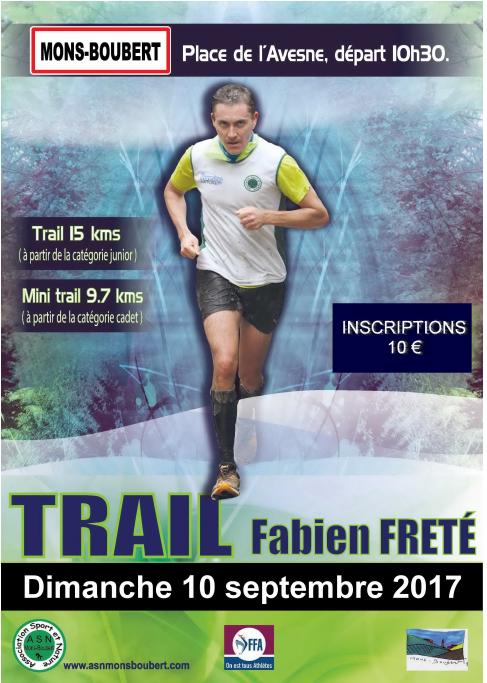 Trail Fabien FRÉTÉ , Mons-Boubert , Somme , dimanche 10 septembre 2017 ...