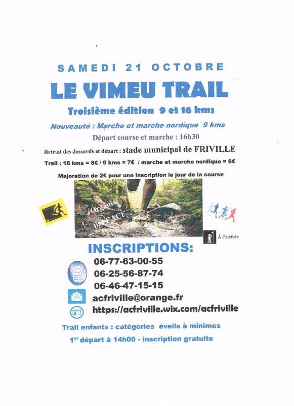 le Vimeu trail , samedi 21 octobre 2017 , Somme ...