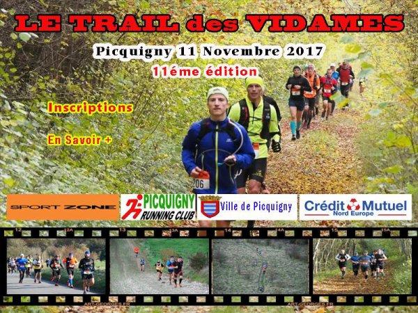 le trail des Vidames , samedi 11 novembre 2017 , Somme ...