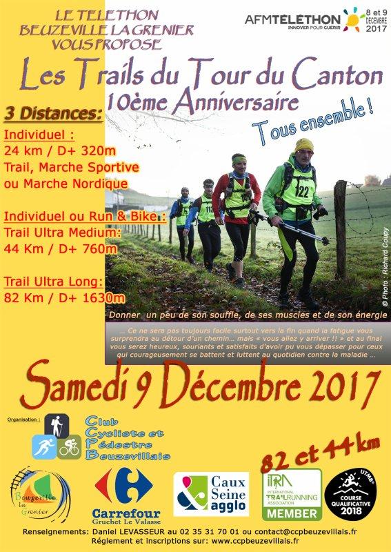 Trail Tour du Canton , samedi 9 décembre 2017 , Seine Maritime , Telethon ...