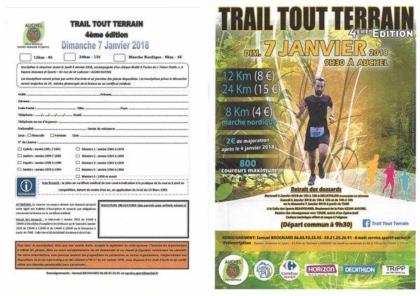 Trail Tout Terrain , dimanche 7 janvier 2018 , Auchel , Pas de Calais ...