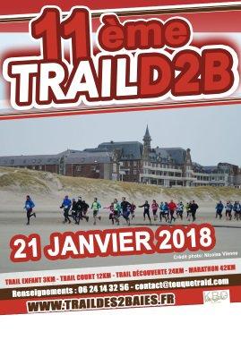 Trail des deux baies , Le Touquet , dimanche 21 janvier 2018 , Pas-de-Calais ...