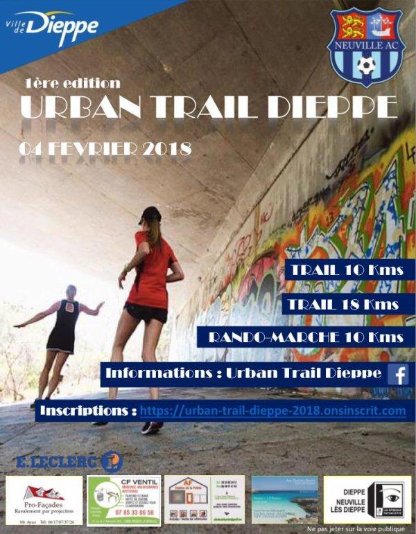 1ere édition Urban Trail de Dieppe , dimanche 4 février 2018 , Normandie ...