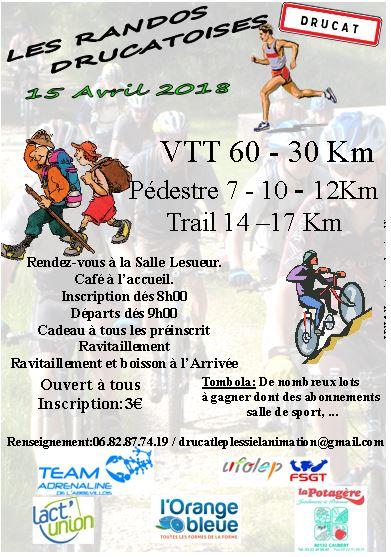 les Randos Drucatoises , dimanche 15 avril 2018 , Somme des Hauts de France ...