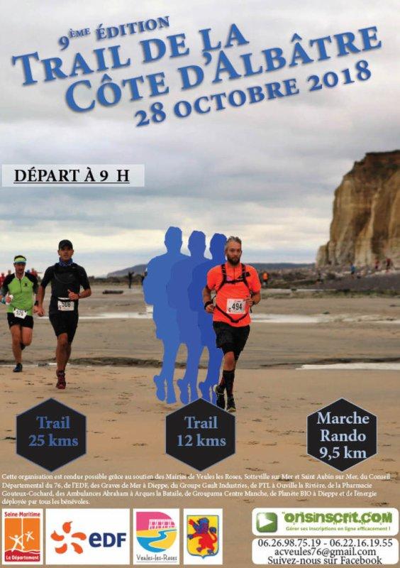 9 eme édition du Trail de la cote d'Albâtre , dimanche 28 octobre 2018 , Normandie ...