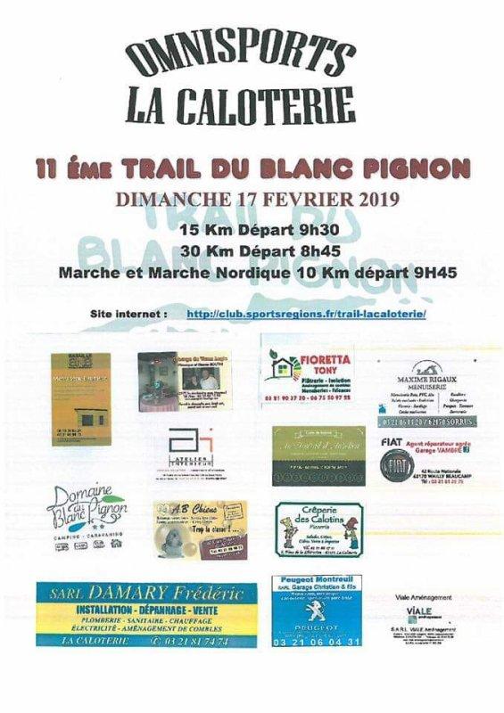 Trail du Blanc Pignon , dimanche 17 février 2019 , Hauts de France ...