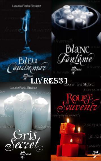 Bleu cauchemar --- Blanc fantome --- Gris secret --- Rouge souvenir