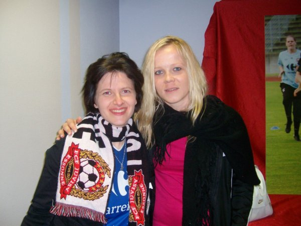 Photo avec Julie Soyer ( FC Juvisy)