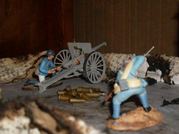 Mais 3 maquettes avec des figurines en plomb !!!!