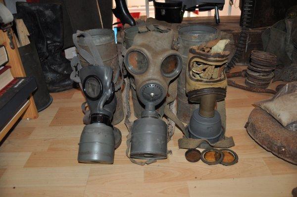 Les masque a gaz .