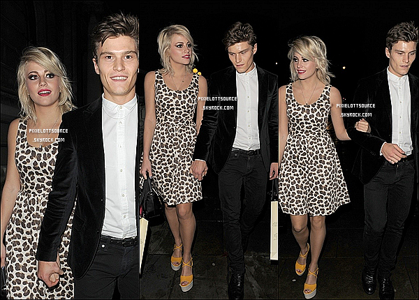 18 Février 2012: Pixie Lott a était vue se rendant au défilé Temperley London, à la London Fashion Week .