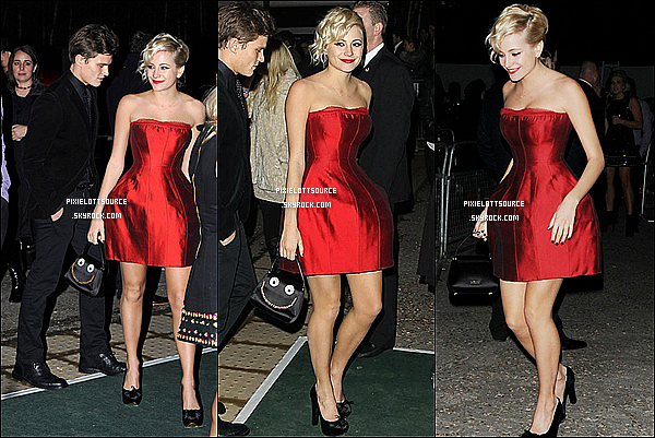 21 Février 2012: Pixie Lott a était vue à l'after party des British Awards 2012 avec son boyfriend .