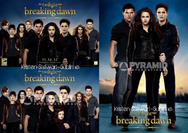 Nouveaux posters Breaking Dawn / Candid / Balanciaga / Scans ...