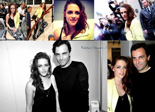 Kristen à la Paris Fashionn Week ♥