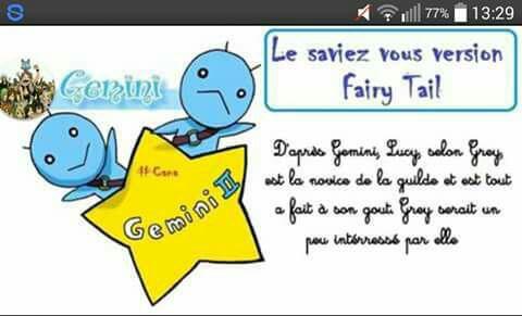 Le saviez-vous (Version Fairy Tail)