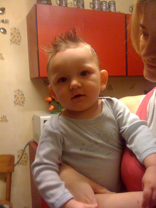 la premieres coupe de mon bebe enzo