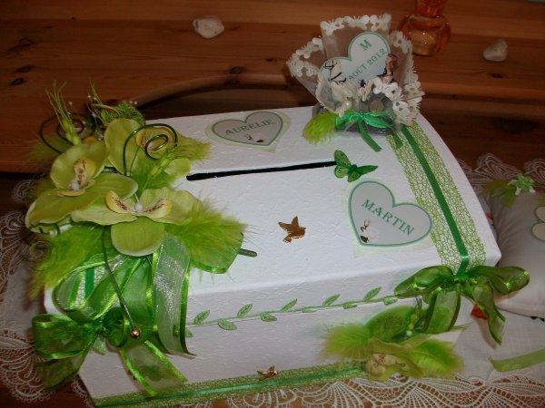urne pour mariage cru et vert anis la copie n 39 est pas un art juste le fruit. Black Bedroom Furniture Sets. Home Design Ideas