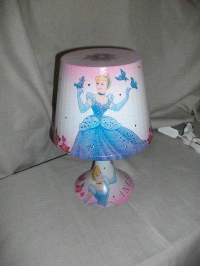 Princesse Cendrillon De Chevet Lampe Lampe TFJl1cK