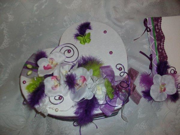 urne mariage blanc violet et vert anis la copie n 39 est pas un art juste le fruit. Black Bedroom Furniture Sets. Home Design Ideas