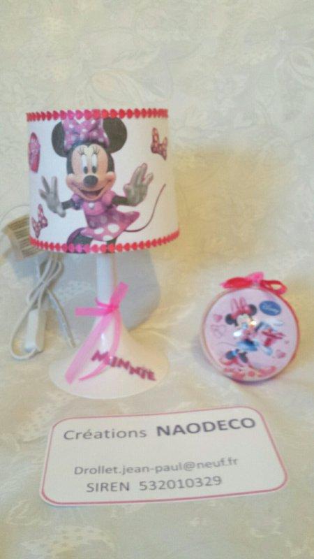 Lampe de chevet minnie mickey la copie n 39 est pas un art juste le fruit - Mickey et plutot ...