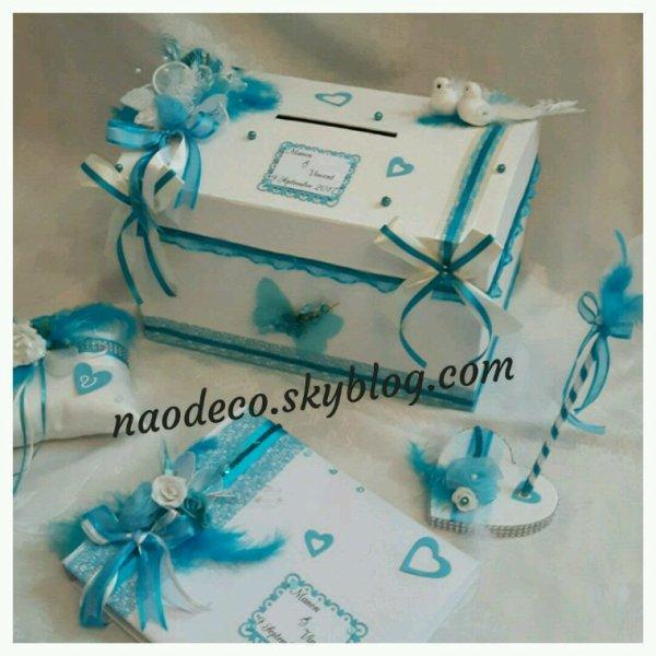 urne mariage blanc et bleu turquoise la copie n 39 est pas. Black Bedroom Furniture Sets. Home Design Ideas