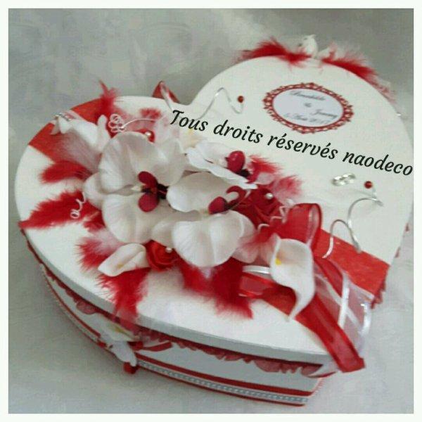 urne mariage coeur blanc et rouge la copie n 39 est pas un art juste le fruit