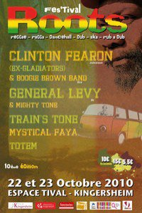 "Vendredi 22 et Samedi 23 octobre Festi Roots à Kingersheim "" General Levy , Clinton Fearon and more "" !! =)"
