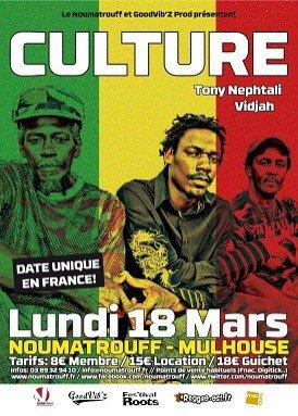 "Lundi 18 mars 2013 "" Selecta Vidjah, Tony Nephtali, Culture "" au Noumatrouff à Mulhouse"